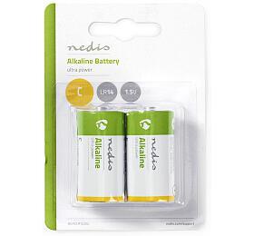 Alkalická Baterie C / 1.50 V / C / MN1400 / MX1400 / 14A / 8000 / Počet baterií: 2 ks / Blistr / LR14 / Zelená / Žlutá - NEDIS