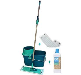 SET Mop sada Leifheit Clean Twist + Dezinfekční prostředek Yellow&Blue (Tierra Verde) - Leifheit