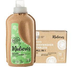 SET Koncentrovaný univerzální čistič + Tablety do myčky Mulieres s certifikací ecocert - Mulieres
