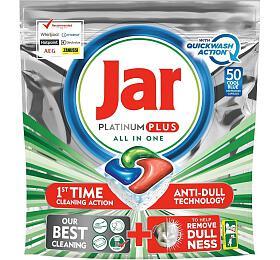 Jar Platinum Plus All in One Quickwash Action Cool Blue kapsle do myčky nádobí 50 ks - Jar