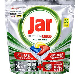 Jar Platinum Plus All in One Lemon kapsle do myčky nádobí 58 ks - Jar