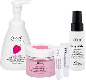 Kosmetický balíček pro ženy Ziaja - mýdlo, sprchový gel, pleť. krém, 2x balzám na rty - Ziaja