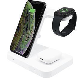 Bezdrátová nabíječka FXED Powerstation pro iPhone, Apple Watch a AirPods, bílá (FIXPOS-WH) - FIXED