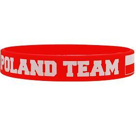 Náramek silikon Polsko 1 červený SportTeam - SportTeam