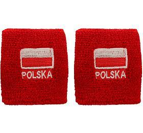 Potítko pletené Polsko SportTeam, 2 kusy - SportTeam