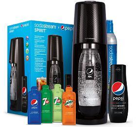 Výrobník sody SodaStream Spirit Black Pepsi MegaPack + sirup Pepsi Max 440 ml - SodaStream