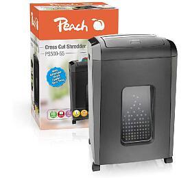 PEACH skartovač Cross Cut PS500-55, security Level P-4, skartace kreditních karet, 25 l - Peach