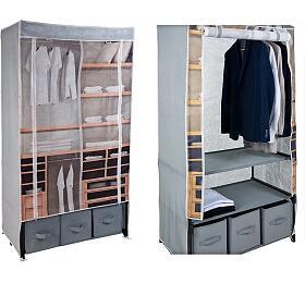 Textilní šatní skříň HOMESTYLING 160 x 88 x 50 cm KO-M05000170 - Homestyling