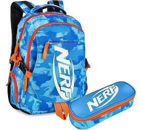 Školní batoh a pouzdro Easy NERF modro-oranžové - EASY