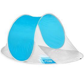 Spokey NIMBUS samorozkládací outdoorový paravan bílo-modrý - Spokey