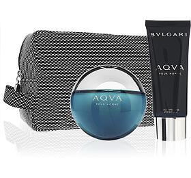 Bvlgari Aqva Pour Homme toaletní voda 100 ml + balzám po holení 100 ml + kosmetická taštička Pro muže dárková sada - Bvlgari