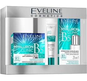 Eveline Cosmetics Hyaluron Clinic dárková sada (denní krém 40+ 50 ml + hydratační esence 110 ml + oční krém 20 ml) - Eveline Cosmetics