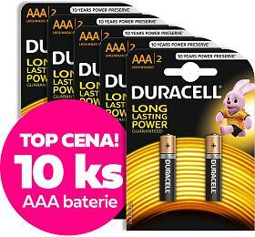 VÝHODNÝ SET 10ks AAA baterií DURACELL - DURACELL