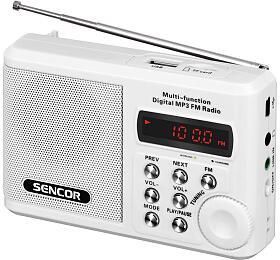 Rádio s USB/MP3 Sencor SRD 215 W - Sencor