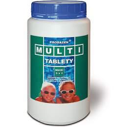 Bazénové příslušenství v-garden Kombi tablety mini PE dóza 1,2 kg - v-garden