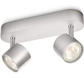 Star SVÍTIDLO BODOVÉ LED 2x4,5W 1000lm 2700K, hliník Philips 56242/48/16 - Philips lighting