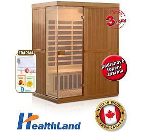 Sauna HealthLand DeLuxe 3300 Carbon - HealthLand