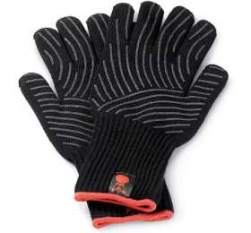 Weber Sada rukavic Premium (se silikonem pogumovanou dlaní, (S/M), černá) - Weber