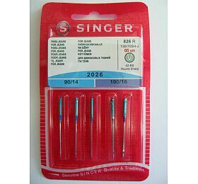 Příslušenství - jehly Singer BLISTER 826 - 2026/90,100 JEANS 5 ks - Singer