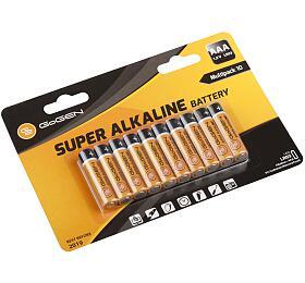 Baterie alkalická GoGEN SUPER ALKALINE AAA, LR03, blistr 10 ks - GoGEN