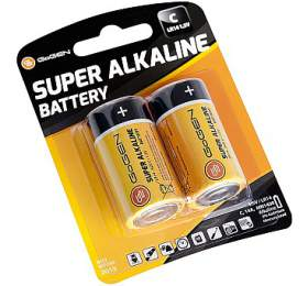 Baterie alkalická GoGEN SUPER ALKALINE C, LR14, blistr 2ks - GoGEN