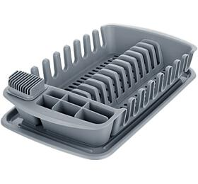 Odkapávač s podnosem Tescoma CLEAN KIT, šedý - Tescoma