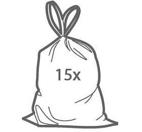 Zatahovací sáčky do odpadkových košů Tescoma CLEAN KIT 60 l, 15 ks - Tescoma