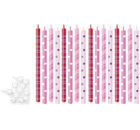 Dortové svíčky Tescoma DELÍCIA KIDS 12 cm, 16 ks , růžová - Tescoma