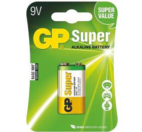 Baterie alkalická GP Super 9V, blistr 1ks - GP