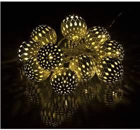 Vánoční LED dekorace baňky Retlux RXL 50 1,5m teplá bílá - Retlux