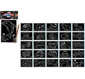 Škrabací obrázek hologram 15x10cm 24ks v boxu - SMT Creatoys