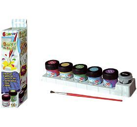 Barvy na textil 6ks v krabičce 5x22cm - SMT Creatoys