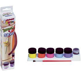 Barvy akrylové na keramiku a sklo 6ks v krabičce 5x21cm - SMT Creatoys