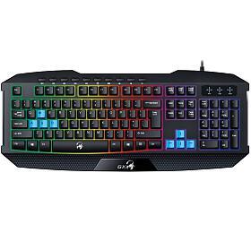 Klávesnice Genius GX Gaming Scorpion K215, CZ/SK - černá/modrá (31310474106) - Genius