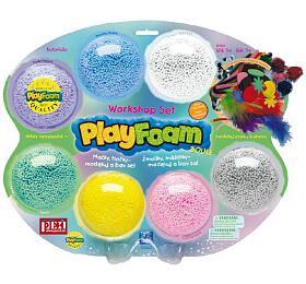 PlayFoam Modelína/Plastelína kuličková s doplňky 7 barev na kartě 34x28x4cm - PEXI