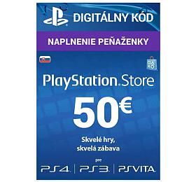 PlayStation Live Cards 50 EUR Hang pro SK PS Store (PS719800057) - Sony