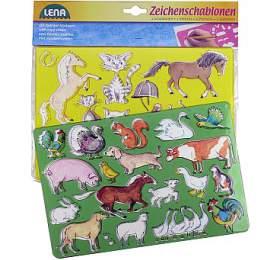 Kreslící šablony ( koně, kočky) - Lena