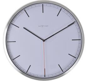 Designové nástěnné hodiny 3071wi Nextime Company White Stripe 35cm - NeXtime