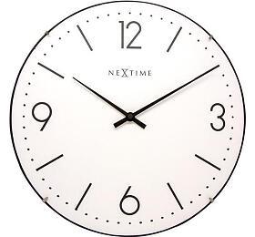 Designové nástěnné hodiny 3157wi Nextime Basic Dome 35cm - NeXtime