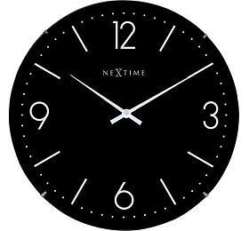 Designové nástěnné hodiny 3157zw Nextime Basic Dome 35cm - NeXtime