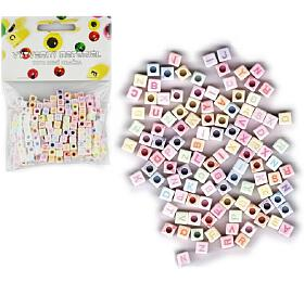 Korálky plastové abeceda 300ks 6mm v sáčku - SMT Creatoys
