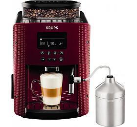 Kávovar Krups EA816570 Pisa Red + XS6000 Autocappuccino - Krups