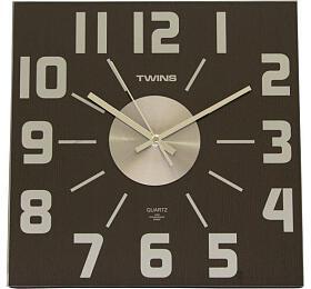 Nástěnné hodiny Twins 468 wenge 32cm - Twins