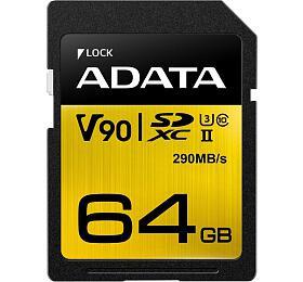 ADATA SDXC 64GB UHS-II U3 (290/260MB) (ASDX64GUII3CL10-C) - ADATA