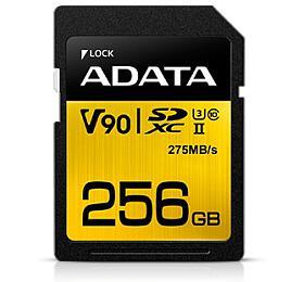 ADATA SDXC 256GB UHS-II U3 (275/155MB) (ASDX256GUII3CL10-C) - ADATA