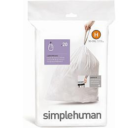 Sáčky do odpadkového koše 30-35 L, Simplehuman typ H, zatahovací, 20 ks v balení CW0168 - Simplehuman