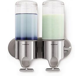 Dávkovač mýdla a šamponu Simplehuman na zeď, nerez – 2x 444ml BT1028 - Simplehuman