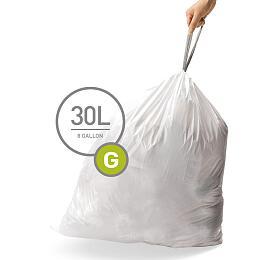 Sáčky do odpadkového koše 30 L, Simplehuman typ G zatahovací, 3 x 20 ks ( 60 sáčků ) CW0257 - Simplehuman