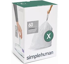 Sáčky do odpadkového koše 80 L, Simplehuman typ X zatahovací, 3 x 20 ks ( 60 sáčků ) CW0272 - Simplehuman